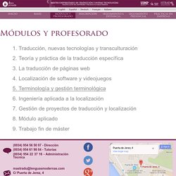 Máster Universitario en Traducción y Nuevas Tecnologías