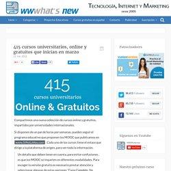 415 cursos universitarios, online y gratuitos que inician en marzo