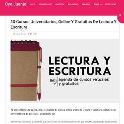 10 cursos universitarios, online y gratuitos de Lectura y Escritura