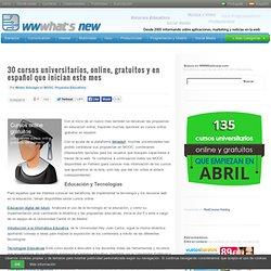 30 cursos universitarios, online, gratuitos y en español que inician este mes