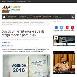 Cursos universitarios gratis de programación para 2016