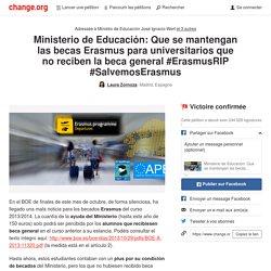Firmando la petición a favor de las becas Erasmus en #ErasmusRIP