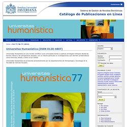 Universitas Humanística (ISSN 0120-4807)