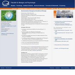 Georg-August-Universität Göttingen - Bachelorstudium Biologische Diversität und Ökologie