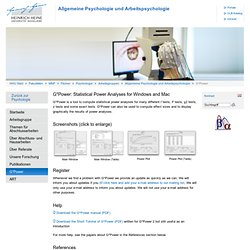 Heinrich-Heine-Universität - Institut für experimentelle Psychologie