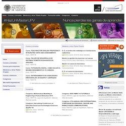 Centro de Formación Permanente. Universitat Politècnica de València. Cursos, Masters, Congresos y Jornadas