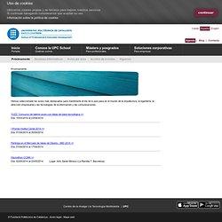 Universitat Politècnica de Catalunya, School of Professional & E