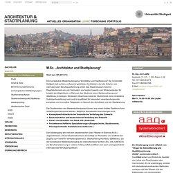 Universität Stuttgart - Architektur & Stadtplanung: Architektur und Stadtplanung