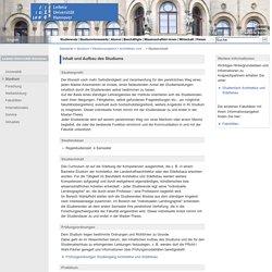 Leibniz Universität Hannover - Studieninhalt