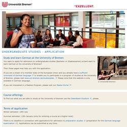 Undergraduate Studies - Application