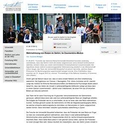Universität Düsseldorf: Wahrnehmung von Reizen im Gehirn: Im Daumenkino-Modus