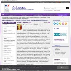 Université d'automne « La lecture et la culture littéraire au cycle des approfondissements » - L'aide à la lecture (2)