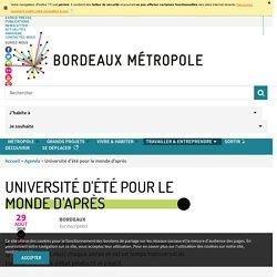 Université d'été pour le monde d'après - Bordeaux Métropole