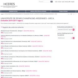UNIVERSITE DE REIMS CHAMPAGNE-ARDENNES - URCA