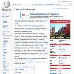 1892 - Université de Chicago