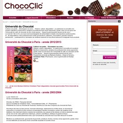 L'université du chocolat de Paris