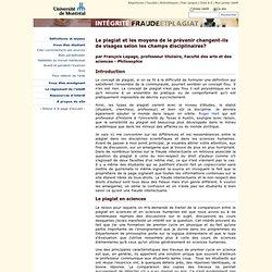 <Université de Montréal - Intégrité, fraude et plagiat - Communication de François Lepage>