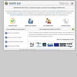 Bienvenue sur Tacit-Testing Adaptatif de la Compréhension Implicite de Textes