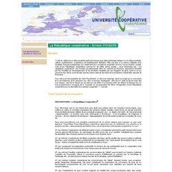 Université cooperative européenne en réseau - La République coopérative - Ernest POISSON