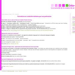 L'université de la créativité et de l'innovation (formation, colloque)
