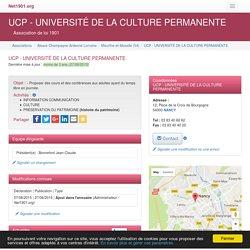UCP - UNIVERSITÉ DE LA CULTURE PERMANENTE - NANCY