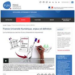 France Université Numérique, enjeux et définition - France Université Numérique