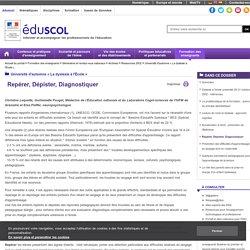 Université d'automne « La dyslexie à l'École » - Repérer, Dépister, Diagnostiquer