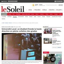 Université Laval: un étudiant fronde la haute direction en pleine collation des grades