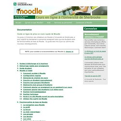 Moodle à l'Université de Sherbrooke - Documentation