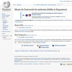 Musée de l'université de médecine (Orfila et Dupuytren)