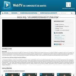 """WebTV - Pascal Picq - """"Les Lumières écossaises et l'évolution"""""""