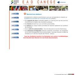 Université Paris Sud 11, Faculté Jean Monnet, Enseignement à distance