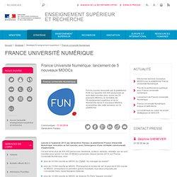 France Université Numérique: lancement de 5 nouveaux MOOCs