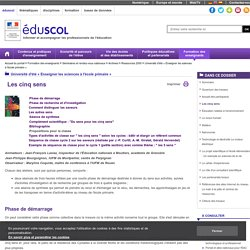 """Dossier Eduscol """"Les 5 sens"""""""