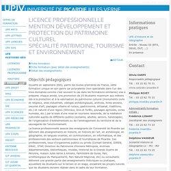 Université de Picardie Jules Verne - Spécialité Patrimoine, tourisme et environnement