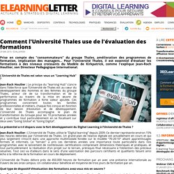 Comment l'Université Thales use de l'évaluation des formations