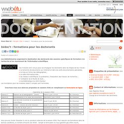 Isidoc't : formations pour les doctorants