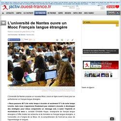 L'université de Nantes ouvre un Mooc Français langue étrangère