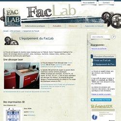 Faclab, le FabLab de l'Université de Cergy-Pontoise, à Gennevilliers
