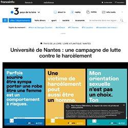 Université de Nantes : une campagne de lutte contre le harcèlement - France 3 Pays de la Loire