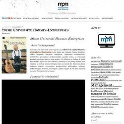 20ème Université Hommes-Entreprises: MPM