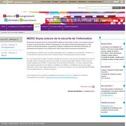 CEMU - Université de Caen Normandie - MOOC Soyez acteurs de la sécurité de l'information