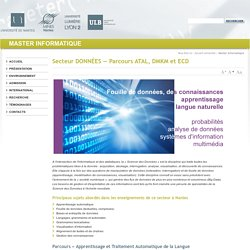 Université de Nantes - Le master informatique - Secteur DONNÉES Parcours ATAL, DMKM et ECD