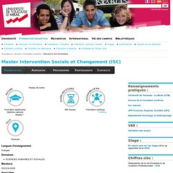 Master Intervention Sociale et Changement (ISC)