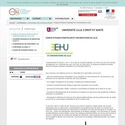 Vidéos : espace éthique hospitalier et universitaire de Lille