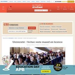 Université : l'échec reste massif en licence