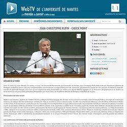 Université de Nantes - Jean-Christophe Rufin - Check Point