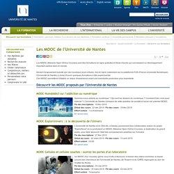 Les MOOC de l'Université de Nantes