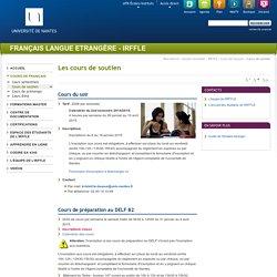 Université de Nantes - IRFFLE - Les cours de soutien
