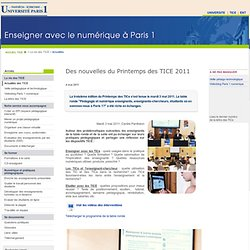 Des nouvelles du Printemps des TICE 2011